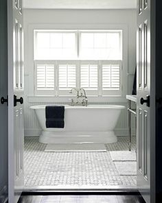 When I, one day, get my bathroom remodel.this is the tub I want. I already have the window :) window ideas Beautiful Design For Bathroom Windows Treatment Ideas Bathroom Window Privacy, Bathroom Window Coverings, Bathroom Windows, Bathroom Interior, Modern Bathroom, Small Bathroom, Bathroom Ideas, White Bathroom, Master Bathroom