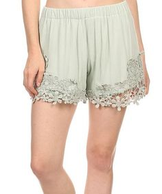 Look what I found on #zulily! Gray Crochet-Accent Shorts - Plus Too #zulilyfinds