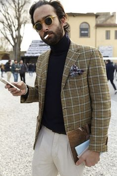 "sprezzaturaeleganza: "" Pitti89 Photo: GiocondaRafanelli & August Kaciuruba Vogue.ua """