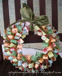 TristinandCompany: Scrap Candy Designs makes a Patterned Paper Wreath