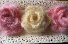 Mohair Crochet Roses
