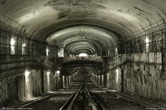 Paris métro's ghost stations, visited by cataphiles: http://sleepycity.net/posts/252/Demolition_of_the_Paris_Metro