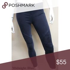 Navy Motto Leggings Fall MUST HAVE! Zipper detail on ankles. Pants Leggings