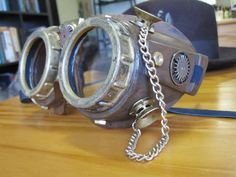 Really cool, really simple, and really inexpensive DIY steampunk goggles.