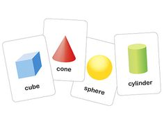 3-Dimensional Printable Shapes Flash Cards    Free printables  scroll to bottom