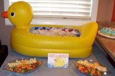 Rubber Ducky party - Cheese  Quackers birthday-parties