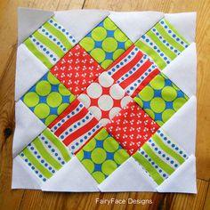 Granny Square block 4 by Sarah @ FairyFace Designs, via Flickr