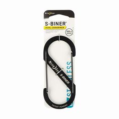 Nite Ize S-Biner-Stahl Größe schwarz Doppelhaken, 5 Tool Belt, Backpack Straps, Fitbit Alta, Diy Face Mask, Camping Gear, Sport, Stainless Steel, Mens Fashion, Purses