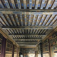 69 Ideas wood paneling ceiling with beams for 2019 Into The Woods Quotes, Walk In The Woods, House In The Woods, Dark Wood Floors, Wood Paneling, Monuments, Fresco, Chateau Beauregard, Dark Wood Wallpaper