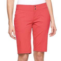 Women's Columbia Zephyr Heights Bermuda Shorts, Size: 16, Light Pink