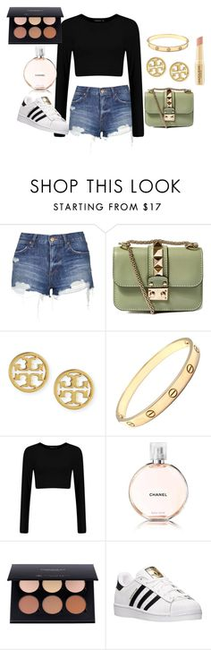 """""""Warm weather shopping"""" by star-lightt ❤ liked on Polyvore featuring Topshop, Valentino, Tory Burch, Cartier, Chanel, adidas and Napoleon Perdis"""