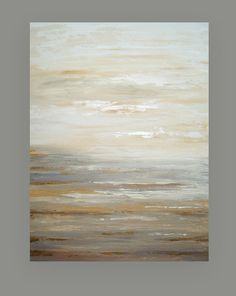 "Painting Abstract Acrylic Art on Canvas Titled: Quiet Light 4 30x40x1.5"" by Ora Birenbaum"