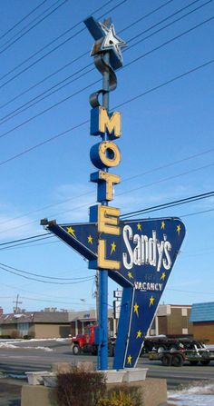 Sandy's Motel ~ Space Age Neon Sign