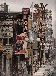 Rue St-Hubert, Montréal, 1963 http://abnb.me/e/1Bw4yfnlSC
