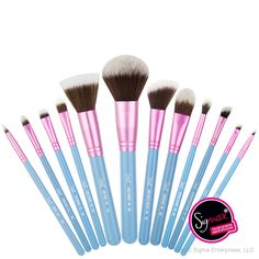Sigma Mrs. Bunny Essential Kit - 12 vegan brushes. Shop now: http://www.sigmabeauty.com/Mrs_Bunny_Essential_Kit_p/bblu.htm?click=246498