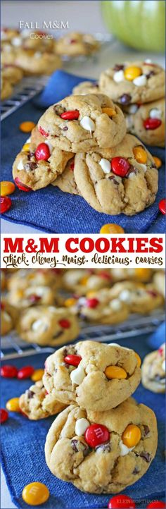 M&M Cookie Recipe - If you love delicious, buttery chocolate chip cookies, this is going to be your new favorite recipe. These homemade chocolate chip cookies are thick & chewy. You know the perfect cookie - slightly crisp on the outside & moist & soft on the inside!