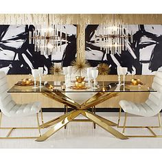 Estella Dining Table, comes in silver too | Dining Tables | Dining Room | Furniture | Z Gallerie