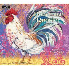 Bohemian Rooster 2017 Wall Calendar , 17991001852   Lang