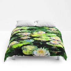 Eight Waterlilies Comforters