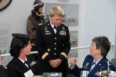 Female flag officers honor first woman four-star    Gen. Ann Dunwoody meets with Rear Adm. Liz Young and Air Force Maj. Gen. Ellen M. Pawlikowski during a lunch in her honor, Feb. 7, at the Women in Military Service for America memorial at Arlington National Cemetery.    Female flag officers honor first woman four-star  By The U.S. Army
