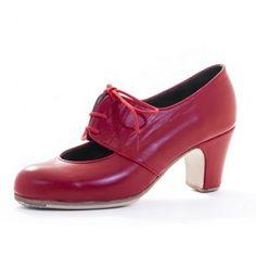 zapato malagueña rojo