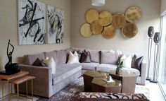 GrandPrix Brown Cushion in living Room