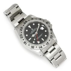 Rolex Date Explorer II 40mm Watch Black '90 16570 - Once Upon A Diamond