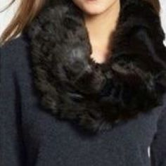 Aero black faux fur infinity scarf NWT! Makes a perfect gift! So cute and soft! Aeropostale Accessories Scarves & Wraps
