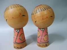 Pair-Very-Special-Japanese-Hakone-Hot-Spring-SOSAKU-KOKESHI-Wood-Dolls-H8cm-3-1-034