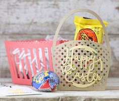 Happy Easter Pocket Basket by Laurie Willison for Papertrey Ink (February 2016)