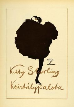 """Kitty Starling"" This is an original 1926 photogravure of an advertising poster by Ludwig Hohlwein. Period Paper is pleased to offer a collection of original ph"