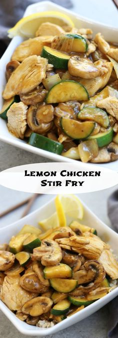 Bright and citrusy, this Lemon Chicken Stir Fry recipe is perfect for a quick and healthy dinner. Good bye take out, say hello to your new healthy decadence in under 30 mins.  https://www.thefedupfoodie.com #Recipes