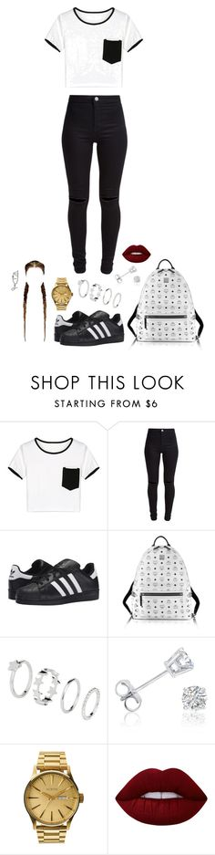 """""""Untitled #1124"""" by kellylaeticia ❤ liked on Polyvore featuring WithChic, New Look, adidas Originals, MCM, Amanda Rose Collection, Nixon and Lime Crime"""