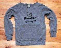 tea time Chihuahua Sweater Grey Sweater Small Dog Shirt