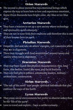 Types of Starseed And Their Characteristics Spiritual Enlightenment, Spiritual Awakening, Spiritual Metaphysics, Sirian Starseed, Psychic Development, Indigo Children, Birth Chart, Book Of Shadows, Inner Peace