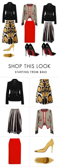 """""""Untitled #169"""" by mddiva ❤ liked on Polyvore featuring Tom Ford, Giles, Emilio Pucci, Just Cavalli, Dion Lee, Alexander McQueen and Christian Louboutin"""
