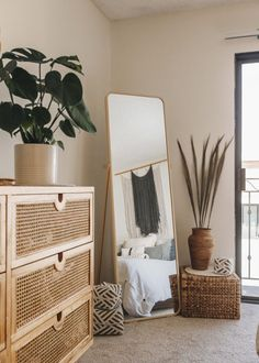 We're officially California residents and can't wait to finally give you our LA apartment tour! Boho Bedroom Decor, Room Ideas Bedroom, Boho Room, Home Bedroom, Urban Bedroom, D House, Minimalist Room, Aesthetic Rooms, My New Room
