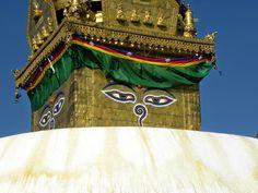stupa, Swayambhunath Temple or Monkey Temple - Kathmandu, Nepal