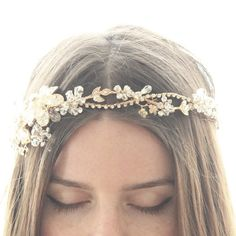 Hey, I found this really awesome Etsy listing at https://www.etsy.com/listing/80494183/gold-crystal-flower-bridal-halo