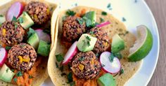 Chili Quinoa Bean Bites With Chipotle Mashed Sweet Potatoes - KrisCarr.com