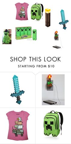 """""""MINECRAFT"""" by thefashionpolice-573 on Polyvore featuring Redstone and ThinkGeek"""