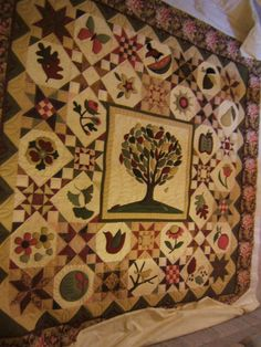 Tree of Life Applique Quilt - off the frame
