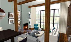 #drawing #3d #farmhouse #visual #3d