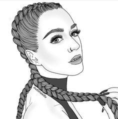 Katy perry girls ( black & white ) in 2019 рисование девушек Tumblr Girl Drawing, Tumblr Sketches, Girl Drawing Sketches, Girly Drawings, Tumblr Art, Outline Drawings, Girl Sketch, Tumblr Girls, Black Girl Art