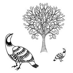 Partridge in a Pear Tree <br/>Unmounted Clear Stamp Set