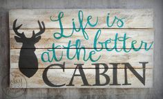 Cabin Wood Sign by PokeyandCo on Etsy