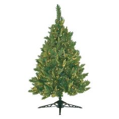 4.5 ft. Pre-Lit Lexington Spruce Christmas Tree- Clear Lights : Target