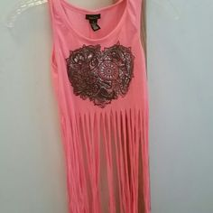 Fringy tank Fringy tank top. Worn once. Rue 21 Tops Tank Tops