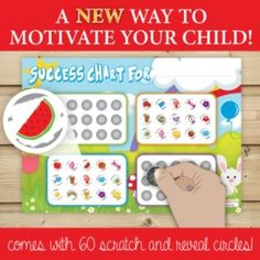 Success Chart  $10.95 NZD Motivate Yourself, Your Child, Crochet Hats, Success, Chart, Motivation, Children, Knitting Hats, Young Children
