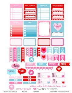 UR My Heart Planner Stickers | Free printable